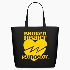 Broken heart surgeon funny design for anyone out of luck with Romance Bags