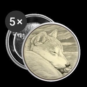 Shiba Inu Buttons Shiba Inu Art Gifts - Small Buttons