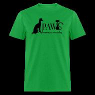 T-Shirts ~ Men's T-Shirt ~ PAWS Logo Black