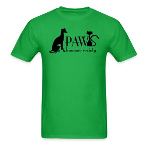 PAWS Logo Black - Men's T-Shirt