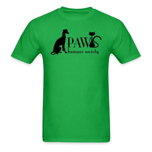 PAWS Logo Black - Men's T-Shirt