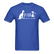 T-Shirts ~ Men's T-Shirt ~ PAWS Logo White
