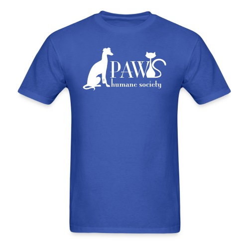 PAWS Logo White - Men's T-Shirt