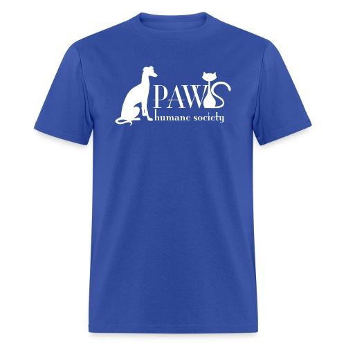 PAWS Logo White - Men's T-Shirt