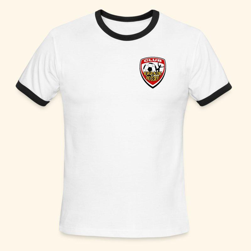 T-shirt Club Espace Soccer - T-shirt à bords contrastants pour hommes American Apparel