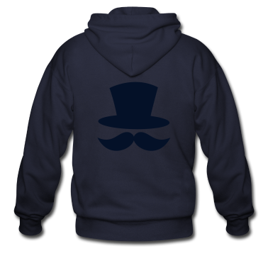 top hat and enormous moustache ringmaster Zip Hoodies/Jackets