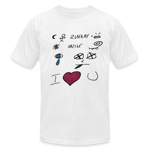 Night Man Lyrics - Men's Fine Jersey T-Shirt