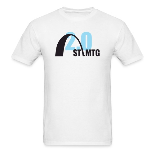 Blue and Black Logo - Men's T-Shirt