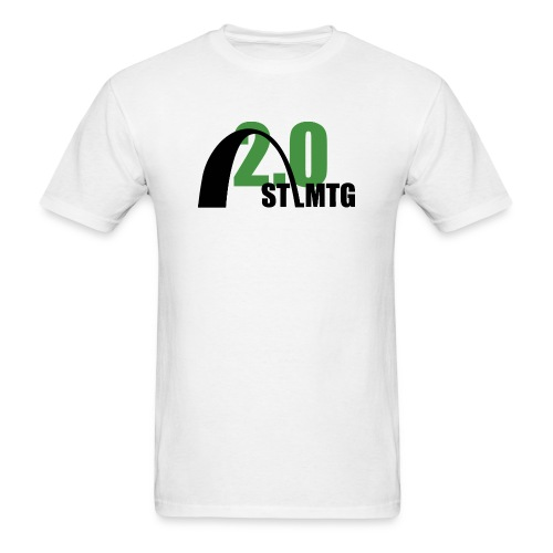 Black and Green Logo - Men's T-Shirt