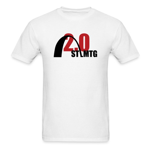Black and Red Logo - Men's T-Shirt