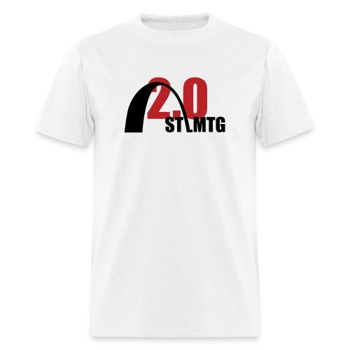 Black and Red Logo - Men's T-Shirt