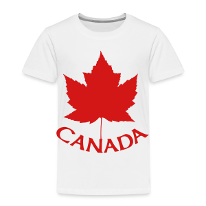 Canada T-Shirts Toddler Maple Leaf Shirts - Toddler Premium T-Shirt