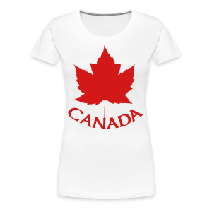 Canada T-Shirts Women's Maple Leaf Shirts - Women's Premium T-Shirt