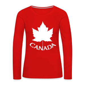 Canada T-Shirts Long Sleeve Women's - Women's Premium Long Sleeve T-Shirt