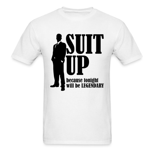 Suit up t-shirt - Men's T-Shirt