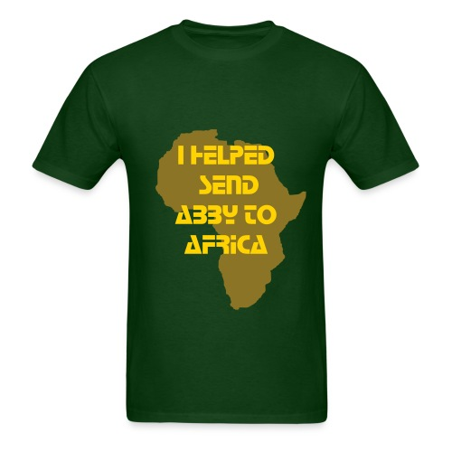 I Helped Send Abby to Africa (Men's) - Men's T-Shirt