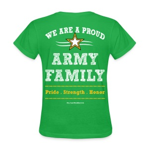 Army Mom T Shirts - Family Pride Strength Honor - Art Both Sides - Women's T-Shirt
