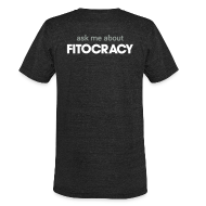 T-Shirts ~ Unisex Tri-Blend T-Shirt ~ Fitocracy - Ask Me About - Men's Black Vintage Tee