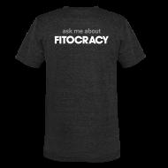 T-Shirts ~ Unisex Tri-Blend T-Shirt ~ Fitocracy - Ask Me About - Men's Black Vintage Tee