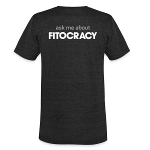 Fitocracy - Ask Me About - Men's Black Vintage Tee - Unisex Tri-Blend T-Shirt by American Apparel
