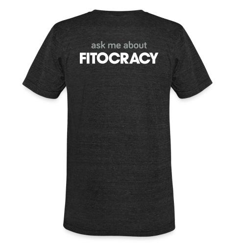 Fitocracy - Ask Me About - Men's Black Vintage Tee - Unisex Tri-Blend T-Shirt