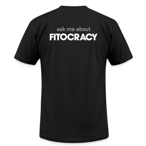 Fitocracy - Ask Me About - Men's Black Regular Tee - Men's T-Shirt by American Apparel