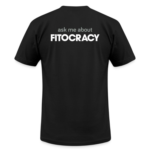 Fitocracy - Ask Me About - Men's Black Regular Tee - Men's Fine Jersey T-Shirt
