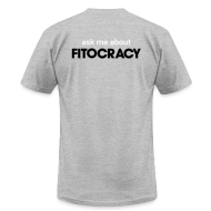 T-Shirts ~ Men's T-Shirt by American Apparel ~ Fitocracy - Ask Me About - Men's Gray Regular Tee