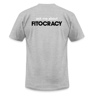 Fitocracy - Ask Me About - Men's Gray Regular Tee - Men's T-Shirt by American Apparel