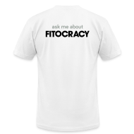 T-Shirts ~ Men's T-Shirt by American Apparel ~ Fitocracy - Ask Me About - Men's White Regular Tee