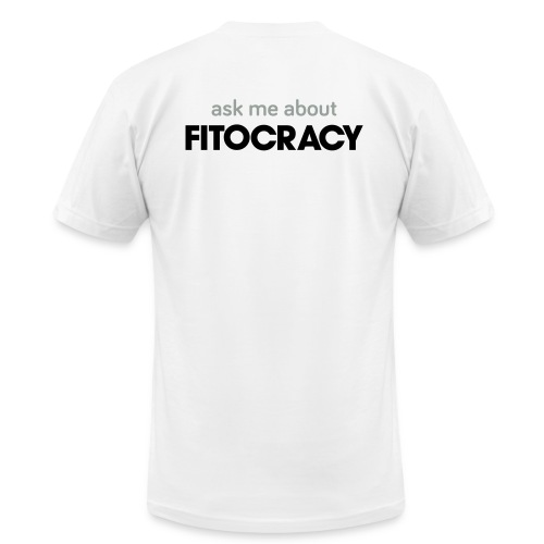 Fitocracy - Ask Me About - Men's White Regular Tee - Men's Fine Jersey T-Shirt
