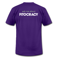 T-Shirts ~ Men's T-Shirt by American Apparel ~ Fitocracy - Ask Me About - Men's Purple Regular Tee