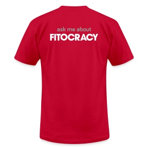 Fitocracy - Ask Me About - Men's Purple Regular Tee - Men's T-Shirt by American Apparel