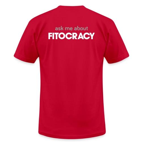 Fitocracy - Ask Me About - Men's Purple Regular Tee - Men's Fine Jersey T-Shirt