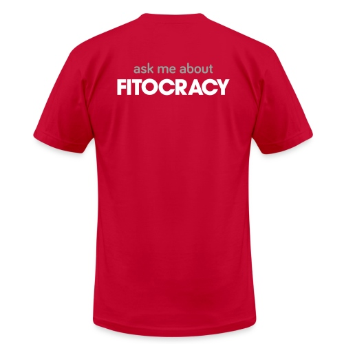 Fitocracy - Ask Me About - Men's Purple Regular Tee - Men's  Jersey T-Shirt