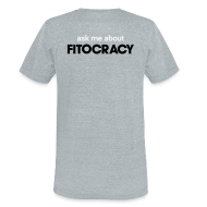 T-Shirts ~ Unisex Tri-Blend T-Shirt ~ Fitocracy - Ask Me About - Men's Gray Vintage Tee