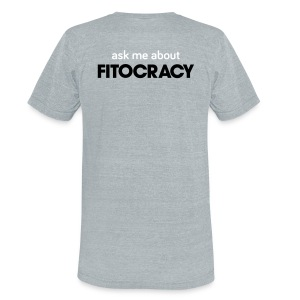 Fitocracy - Ask Me About - Men's Gray Vintage Tee - Unisex Tri-Blend T-Shirt by American Apparel