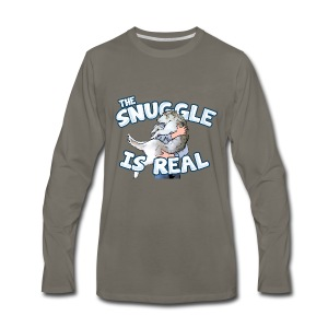The Snuggle Is Real Men's Premium Long Sleeve T-Shirt - Men's Premium Long Sleeve T-Shirt