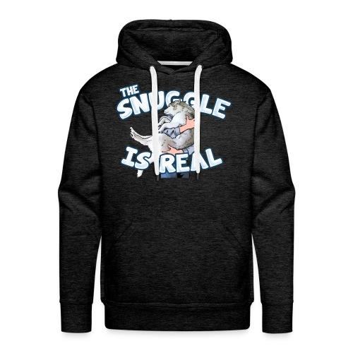The Snuggle Is Real Men's Premium Hoodie - Men's Premium Hoodie