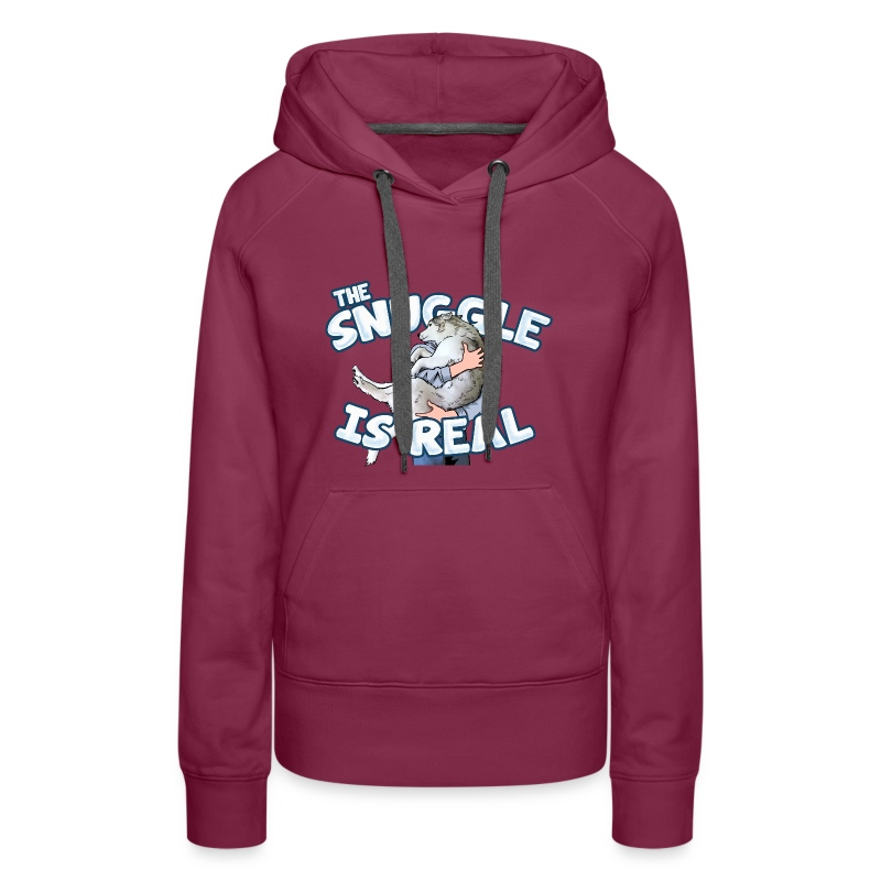 The Snuggle Is Real Women's Premium Hoodie - Women's Premium Hoodie