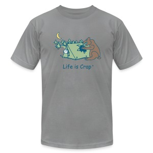 Camping Bear - Mens T-shirt by American Apparel - Men's Fine Jersey T-Shirt