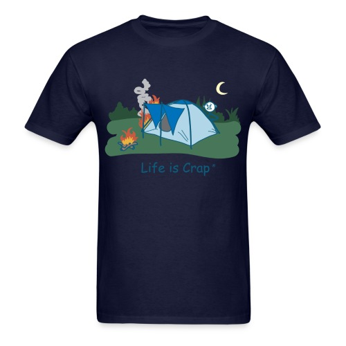 Tent Fire - Mens Classic T-shirt - Men's T-Shirt