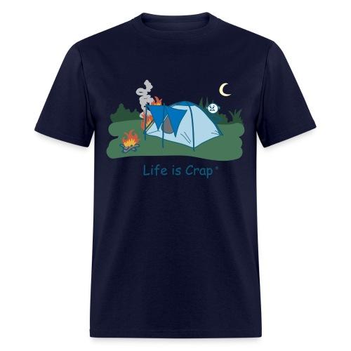 Tent Fire - Mens Classic T-shirt - Men's T-Shirt