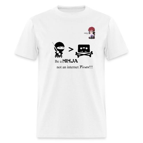 Ninjas Fight Piracy Men's Standard Weight Tee - Men's T-Shirt