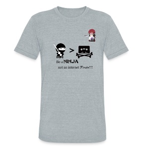 Ninjas Fight Piracy Men's Vintage Tee - Unisex Tri-Blend T-Shirt by American Apparel