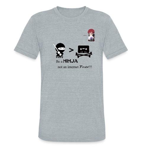 Ninjas Fight Piracy Men's Vintage Tee - Unisex Tri-Blend T-Shirt