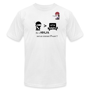 Ninjas Fight Piracy Men's Tee - Men's T-Shirt by American Apparel