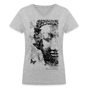 Breathe - Women's V-Neck T-Shirt