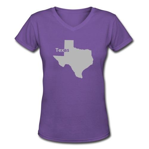Texas - Women's V-Neck - Women's V-Neck T-Shirt