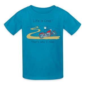 That's Why I Ride - Kids' T-Shirt